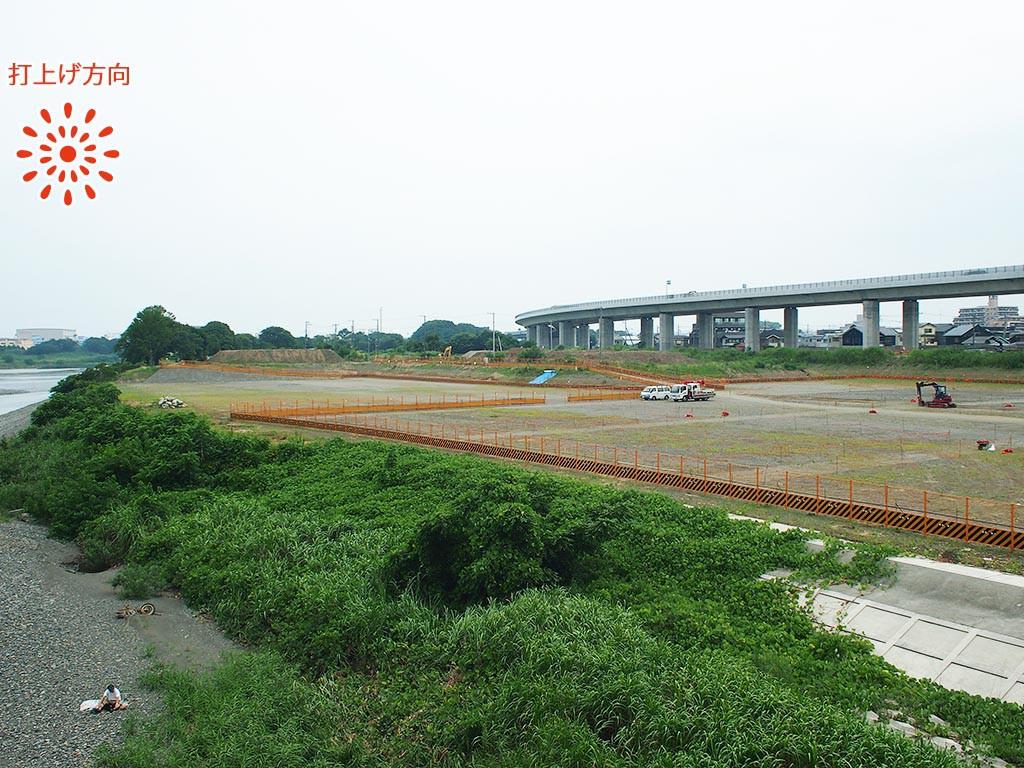 海老名会場(あゆみ橋上流高水敷) 会場全体
