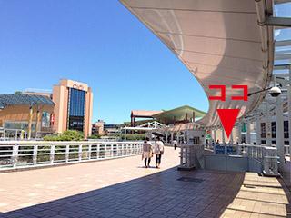 海老名駅東口バスターミナル 0番 階段