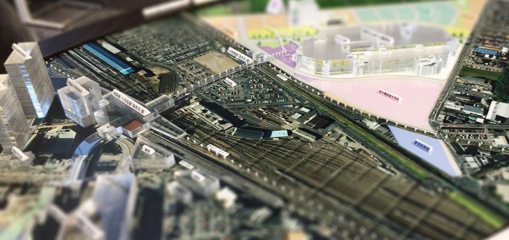 海老名駅周辺 ジオラマ模型