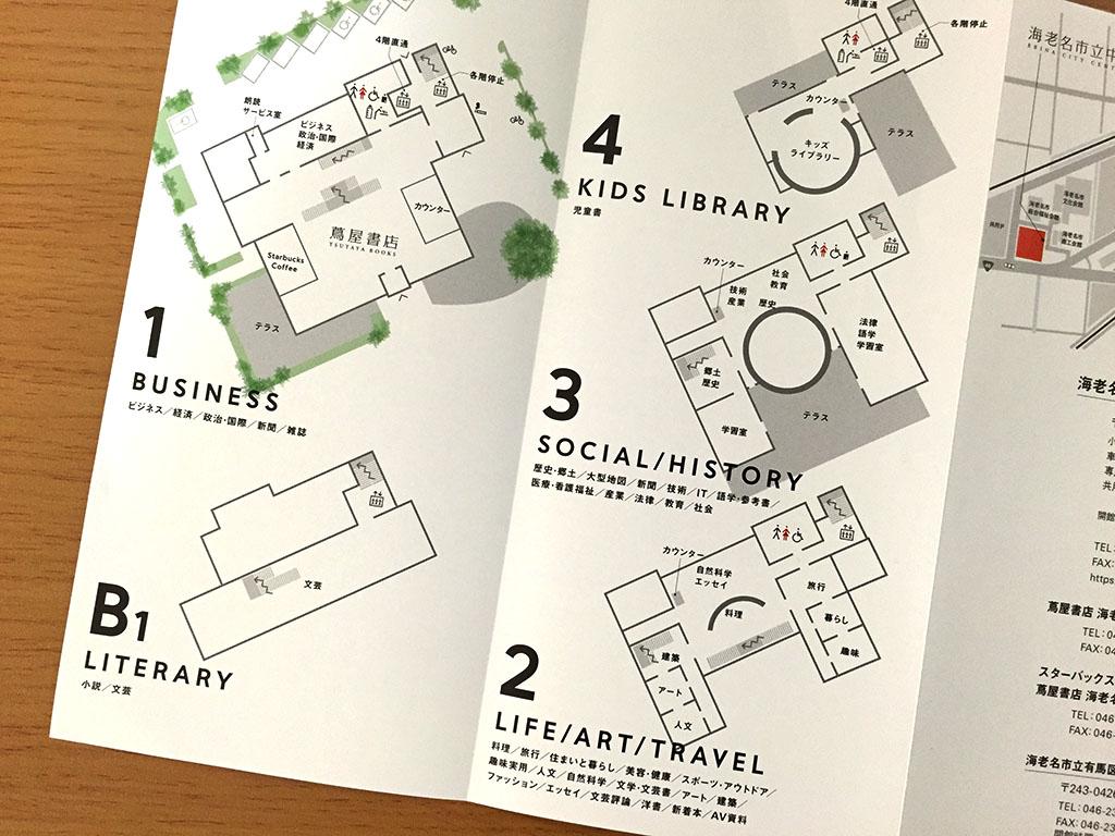 海老名市立中央図書館 フロアマップ・フロアガイド