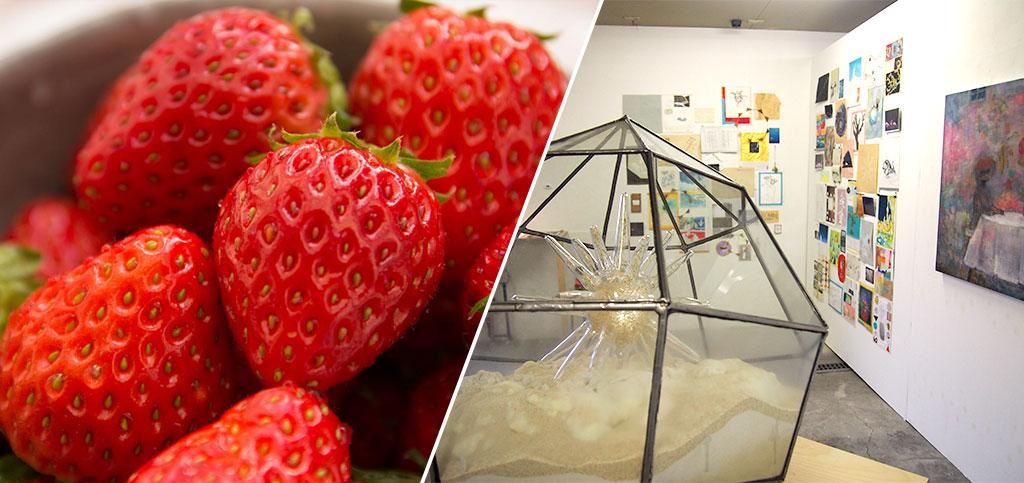 イチゴ/作品展「青い森のちいさな美術室」