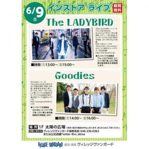 インストア ライブ「The LADYBIRD/Goodies」