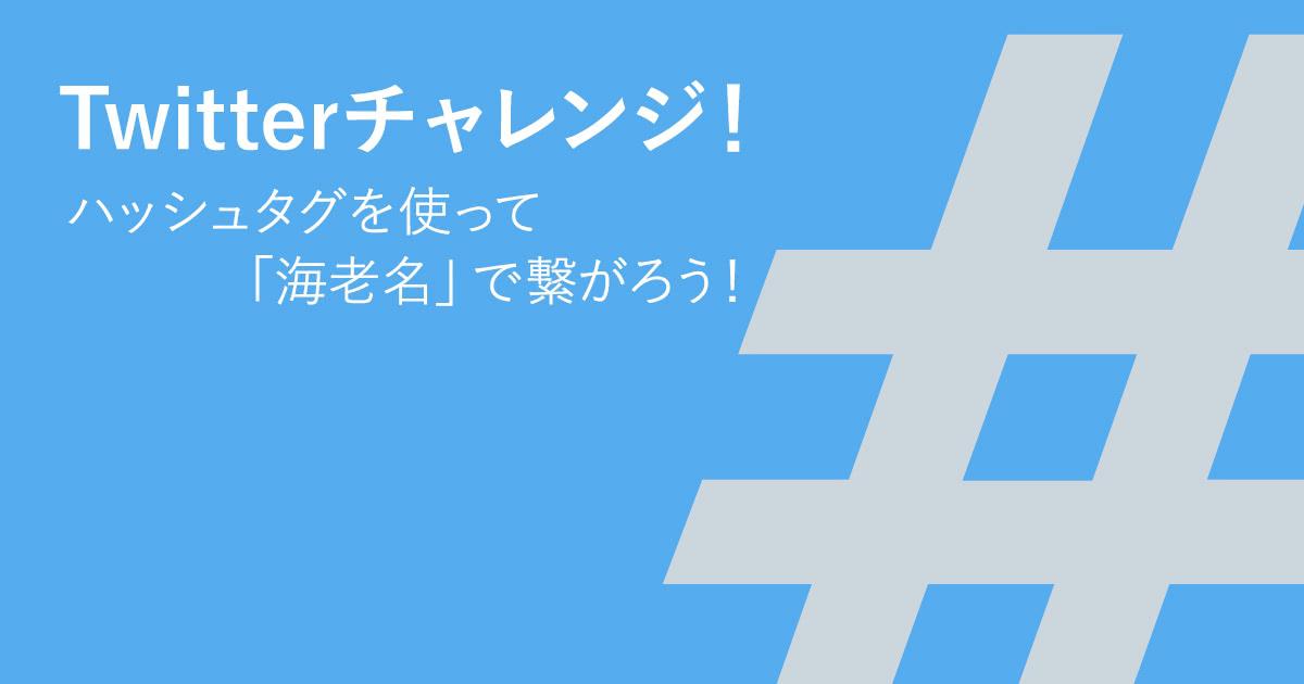 Twitterチャレンジ!ハッシュタグを使って「海老名」で繋がろう!