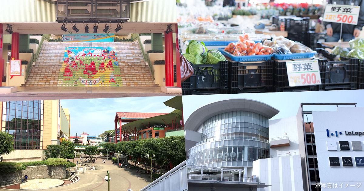 ビナウォーク/国分寺台おはよう市場/中央公園/ららぽーと海老名