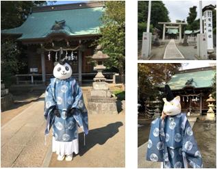 有鹿神社の大人気・パンダ宮司&イノシシ宮司
