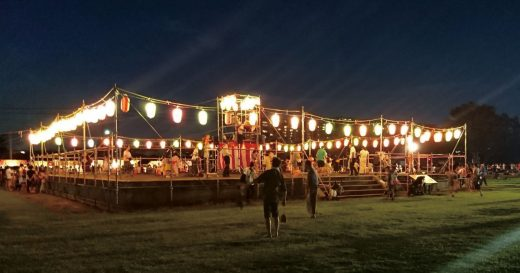 2019年「第10回 相模国分寺盆踊り」七重の塔跡で踊る趣深い盆踊り