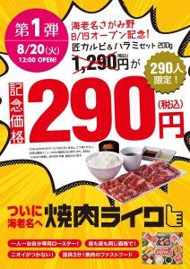 第1弾 290人限定!「記念価格290円」