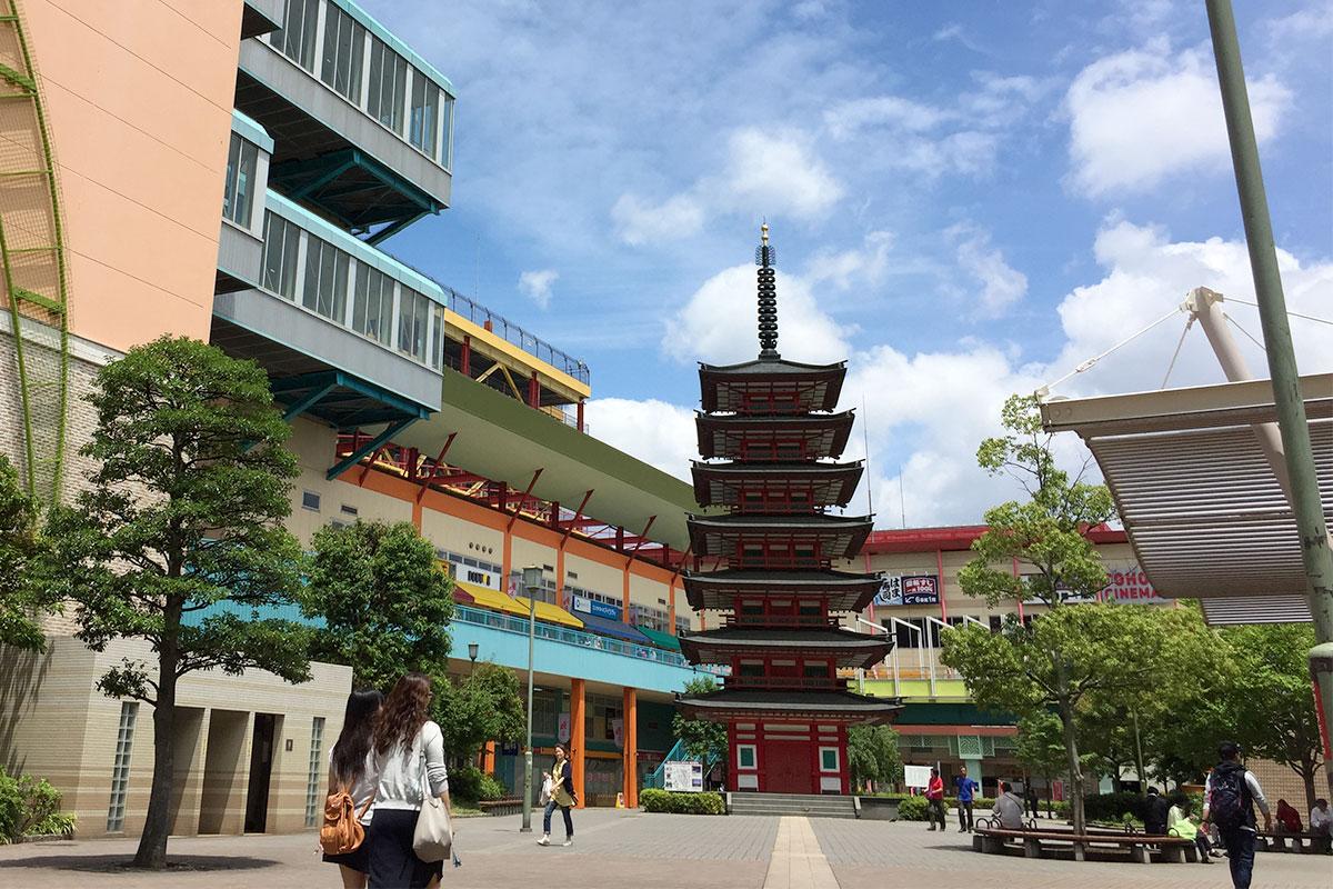 吉高由里子 主演「わたし定時で帰ります」海老名中央公園・七重の塔