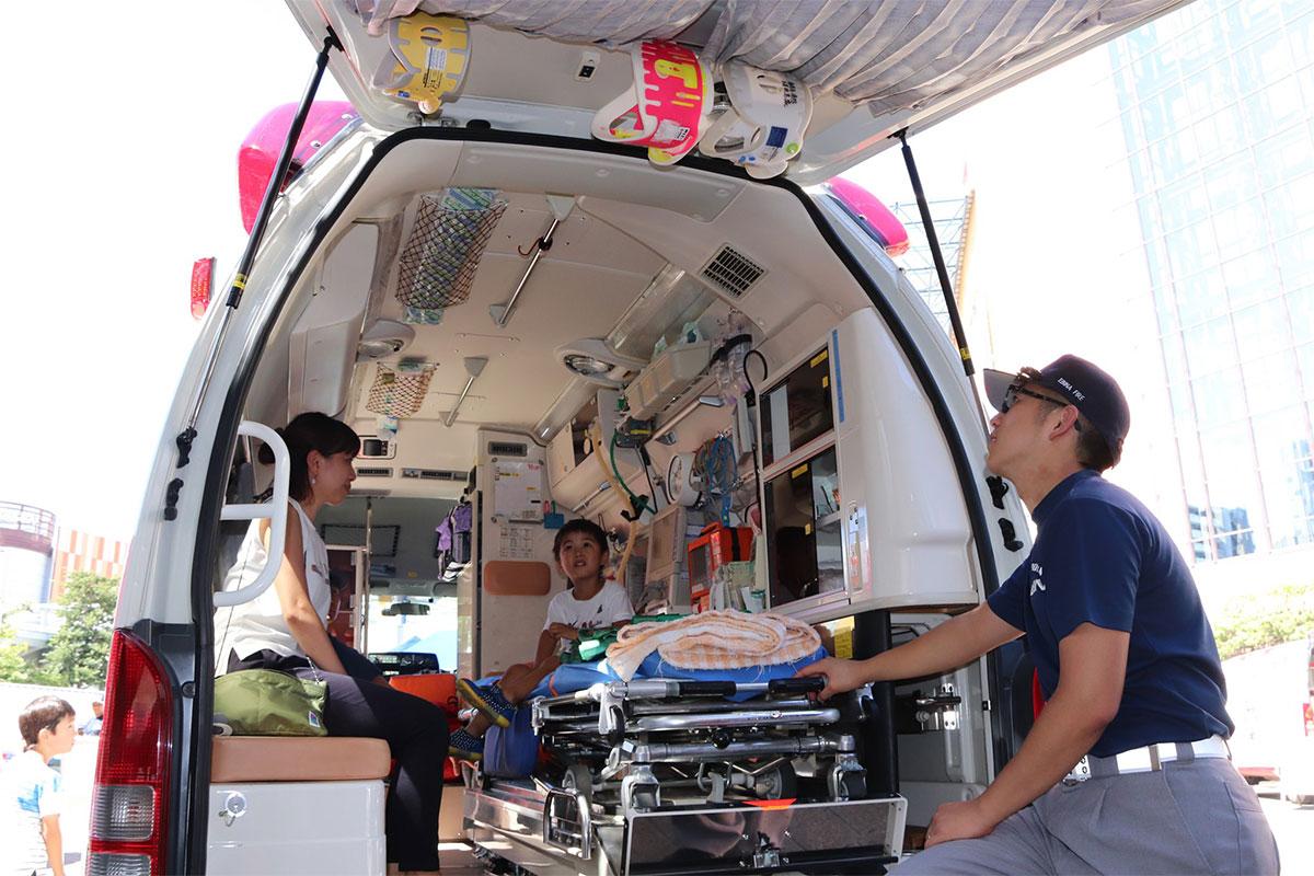 えびな救急フェア 救急車両展示