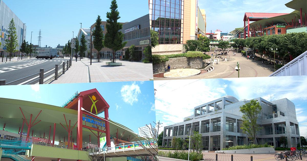 海老名駅西口/海老名中央公園/ビナウォーク/市立中央図書館