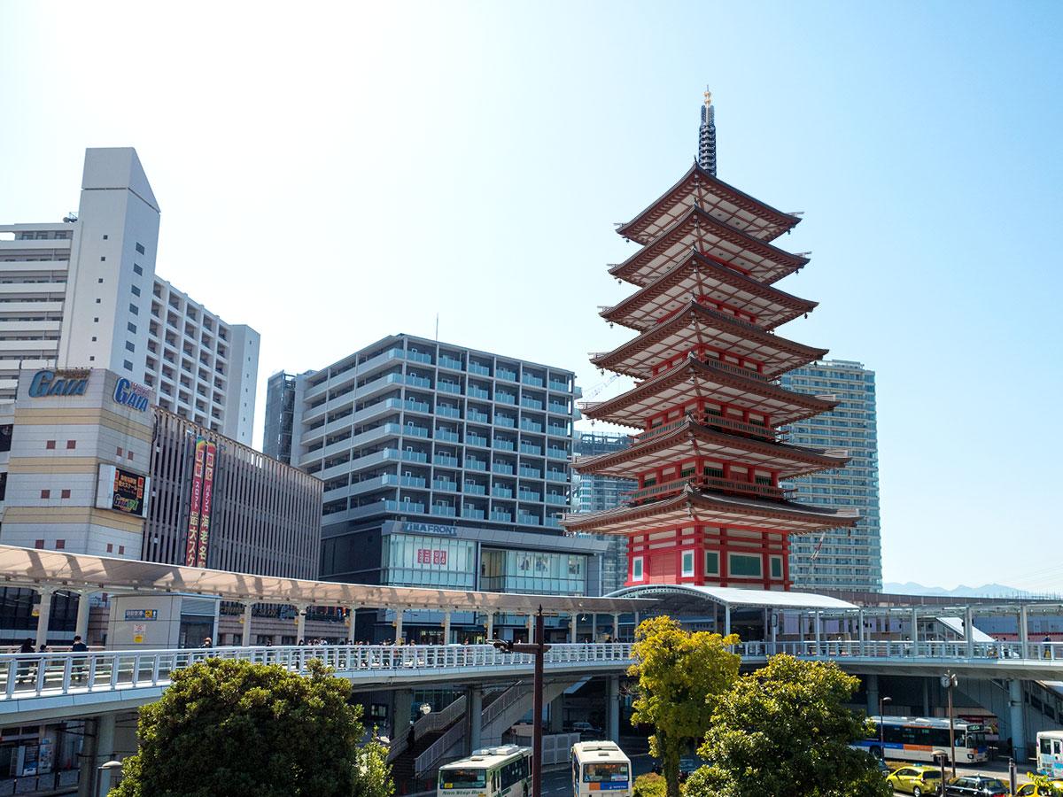 神奈川の新名所 海老名駅 七重の塔