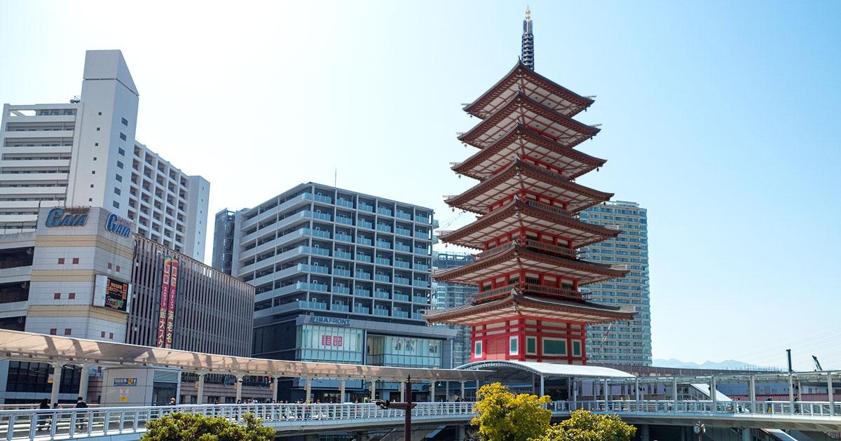 実物大「七重塔」を再現?!海老名駅の新駅舎が開業、最上階の展望台から市内を一望